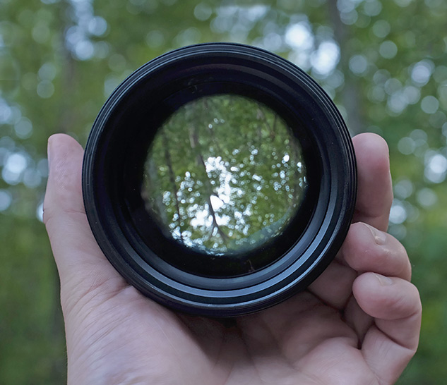 Nikon 105mm f/1.4 Review - front view