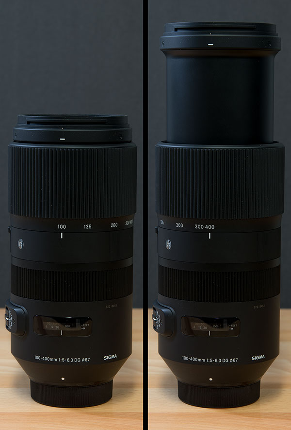 Sigma 100-400mm f/5-6.3 DG OS HSM Contemporary Review -- Product Image